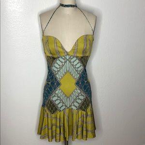Mara Hoffman silk mini ruffle dress M